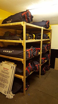New Storage in the Bellew Road Clubhouse