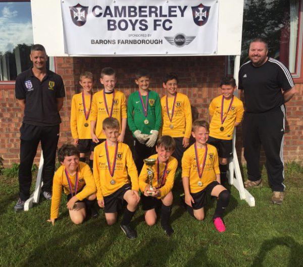 U10 Kestrels Cup Winners